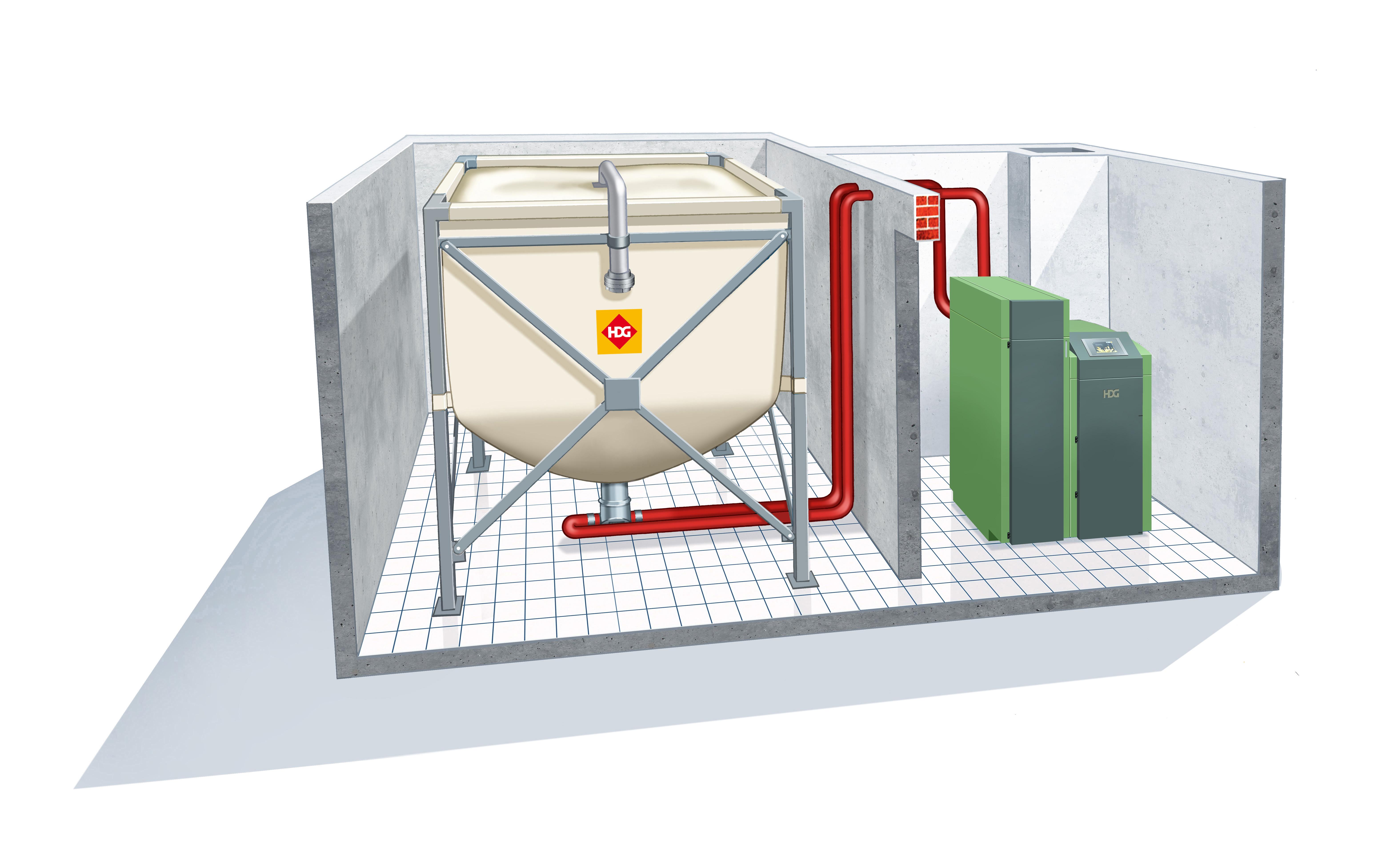 Aspirazione del pellet da un silo in tessuto | sistema di caricamento