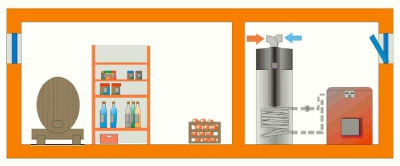 Installazione 1: Cantina | dettagli tecnici